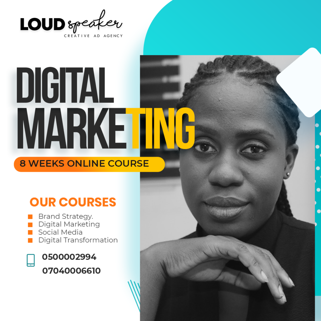 Digital marketing course flyer